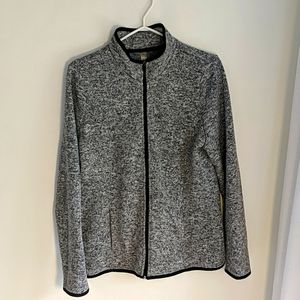"""Hyba Speckled """"Patagonia dupe"""" Grey Zip Up"""